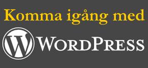 wordpress for nyborjare